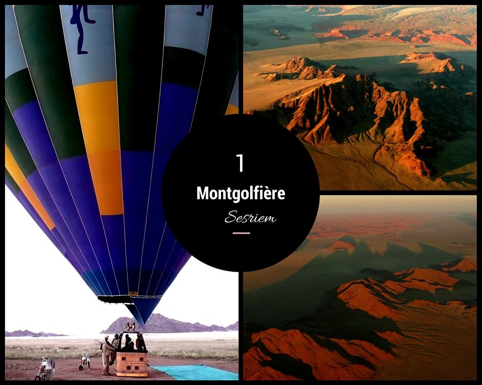 survol en montgolfière en Namibie