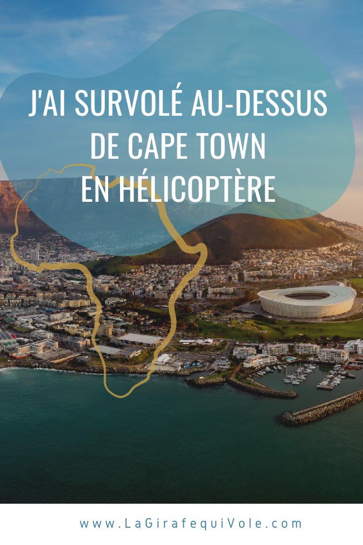 survol hélicoptère Cape Town