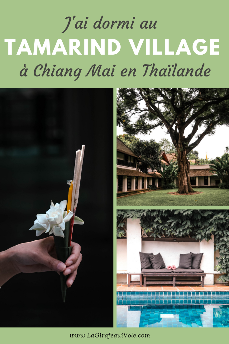tamarind village Chiang Mai thailande