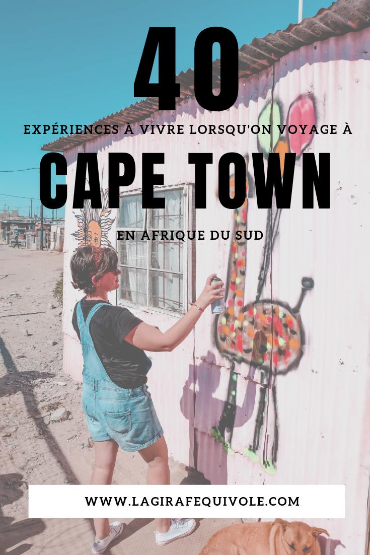expériences activités à faire à Cape Town