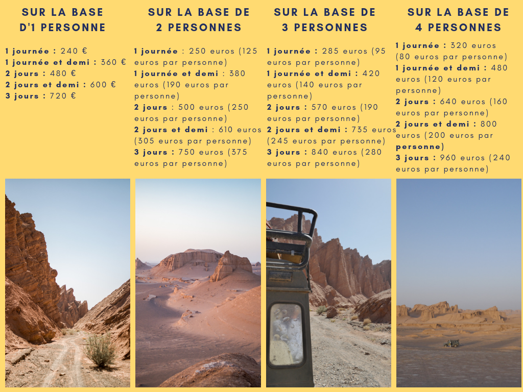 voyager en iran désert