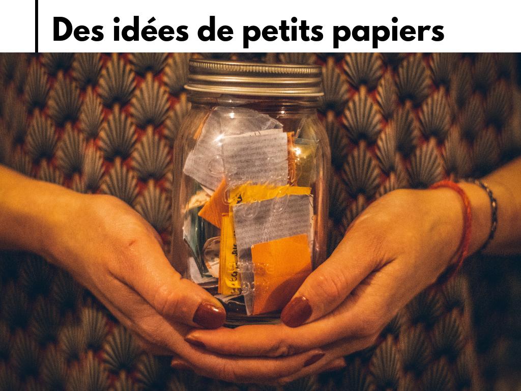 bocal papier bonheur