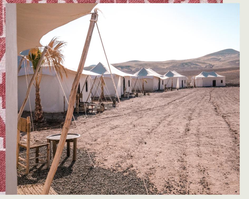campement désert agafay Maroc